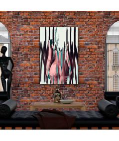 Obraz na płótnie Akt kolorowy na płótnie Stojąca kobieta (1-częściowy) pionowy