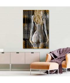 Grafika akt do sypialni Złotowłosa, obraz zmysłowy
