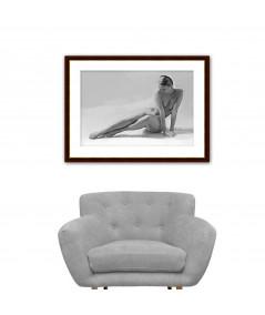 Obraz na płótnie Obraz na płótnie Akt kobiety, czarno biały akt kobiecy
