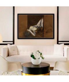 Obraz na płótnie Akty kobiet Kobieta leżąca, nowoczesne obrazy do sypialni