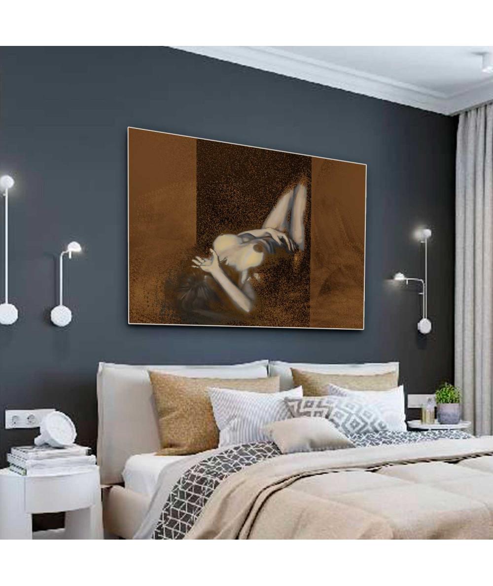 Obrazy kobieta - Akty kobiet Kobieta leżąca (1-częściowy) szeroki
