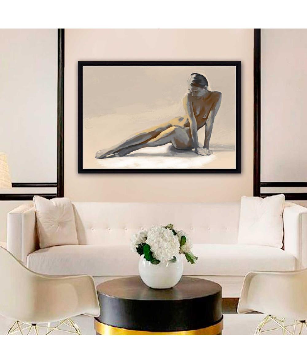 Obrazy akty - Akt kobiecy obraz do sypialni Syrena (1-częściowy) szeroki