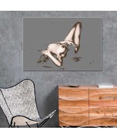 Akt obraz do sypialni Szary akt (1-częściowy) szeroki