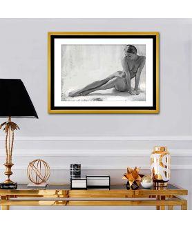 Obraz na płótnie Szary obraz na ścianę Akt młodej kobiety