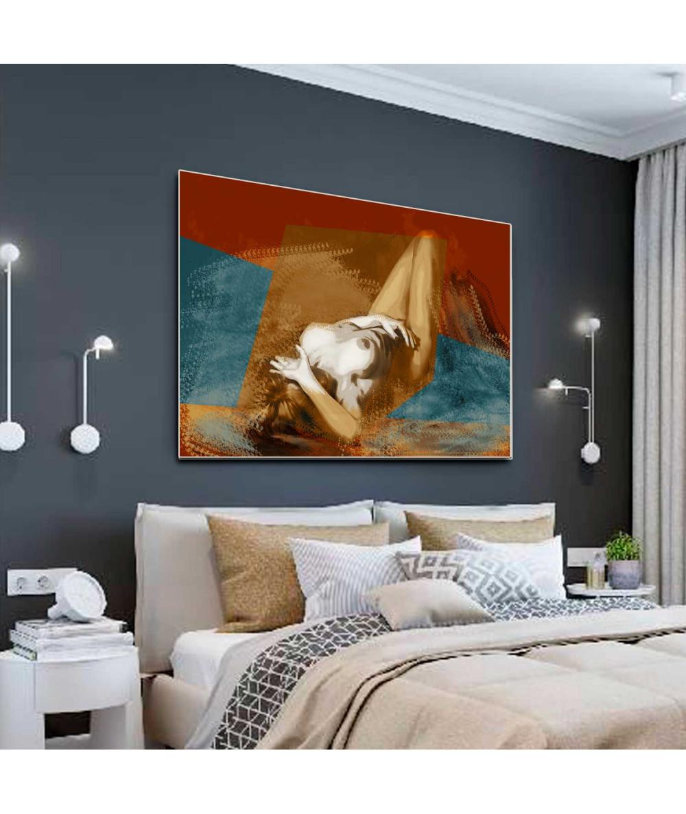 Nowoczesny obraz akt na ścianę Naga kobieta