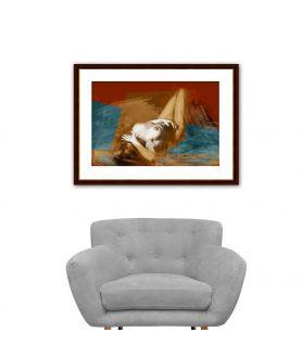 Obraz na płótnie Nowoczesny obraz akt na ścianę Naga kobieta