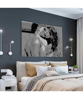 Obraz na płótnie Duży obraz na ścianę Pocałunek Coco (1-częściowy) szeroki