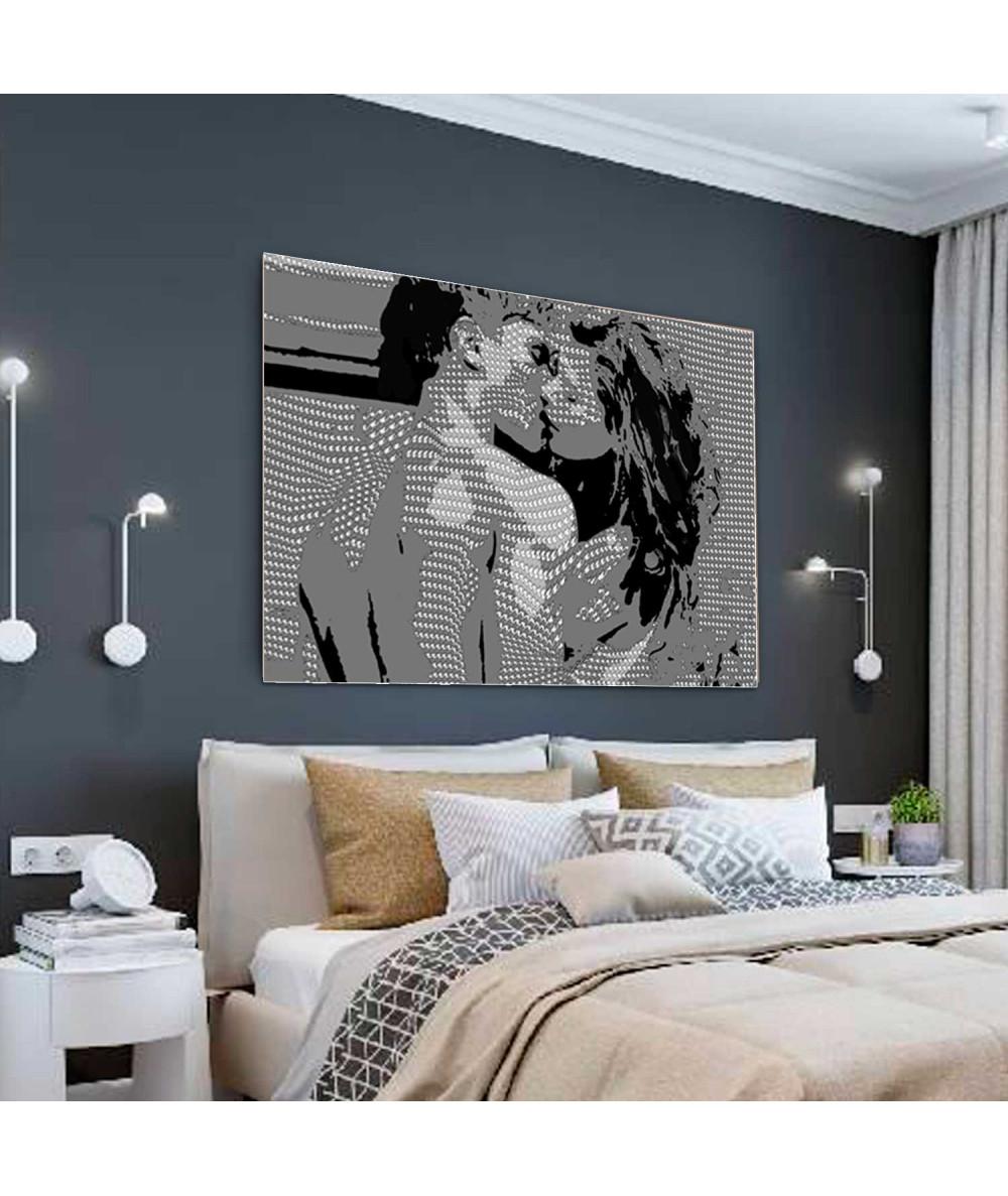 Obrazy pocałunek - Duży obraz na ścianę Pocałunek Coco (1-częściowy) szeroki