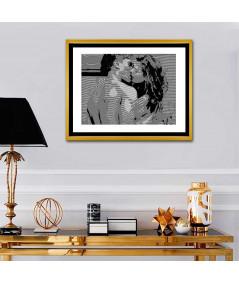 Obraz na płótnie Obraz na ścianę Pocałunek Coco