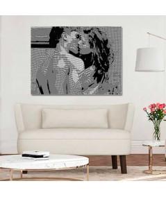 Duży obraz na ścianę Pocałunek Coco (1-częściowy) szeroki