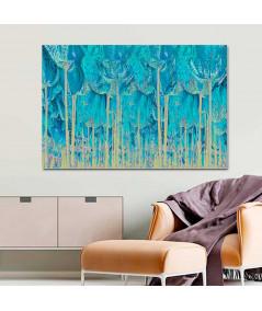 Obraz na płótnie Obraz Turkusowy las (1-częściowy) szeroki