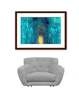 Obraz na płótnie Obrazy w kolorze turkusowym Bajkowy las (1-częściowy) szeroki