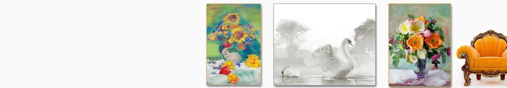 Grafiki obrazy drukowane na płótnie do salonu i sypialni w stylu retro