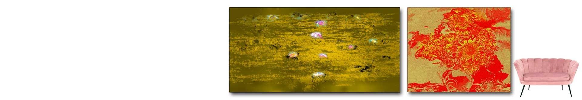 Złote plakaty i złote obrazy na płótnie • luksusowe dekoracje • GRAFIKIOBRAZY.PL