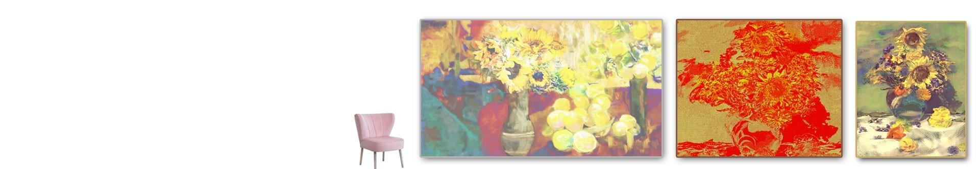 Obrazy słoneczniki na płótnie - sklep z obrazami grafikiobrazy.pl