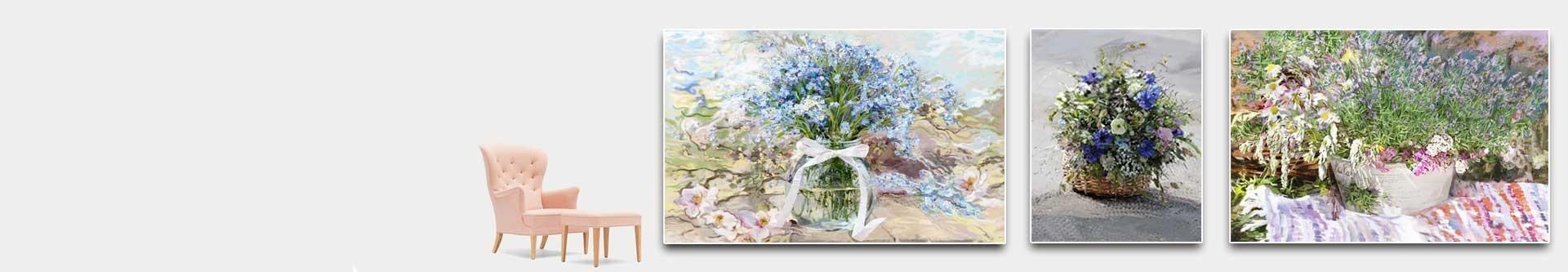 Obrazy kwiaty polne - dzikie kwiaty na płótnie - grafikiobrazy.pl