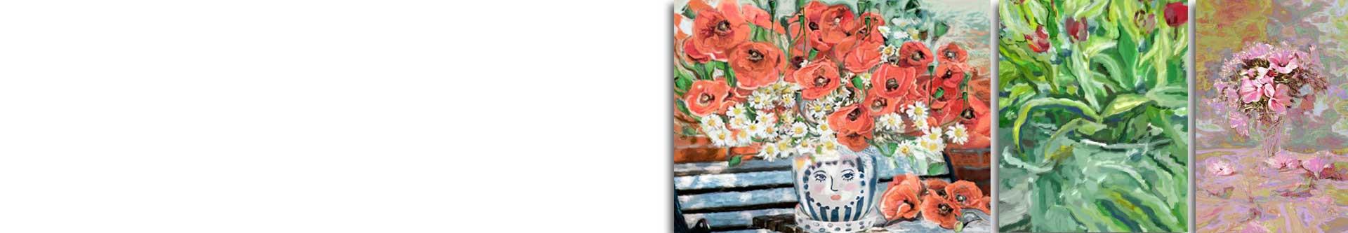 Obrazy kwiaty w wazonie - obrazy z kwiatami nowoczesne - grafikiobrazy.pl