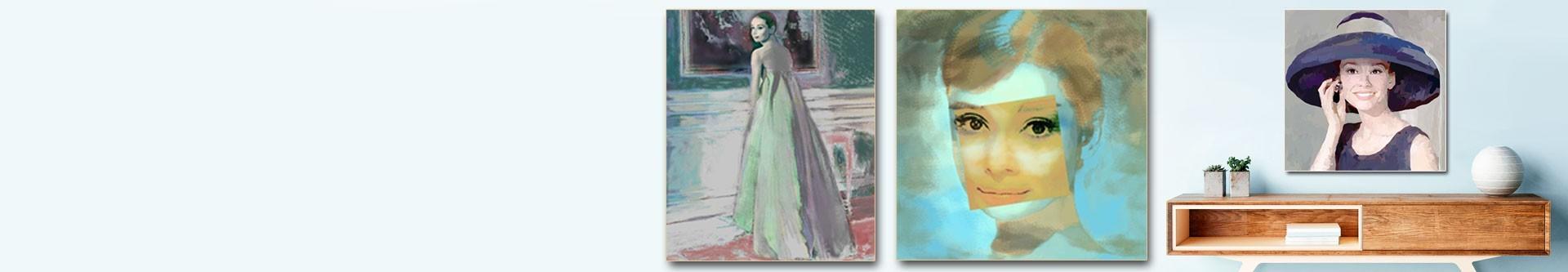 Obrazy Audrey Hepburn i plakaty w GRAFIKIOBRAZY.PL