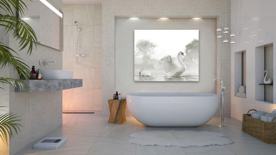 Obrazy do łazienki czarno białe - GrafikiObrazy.pl