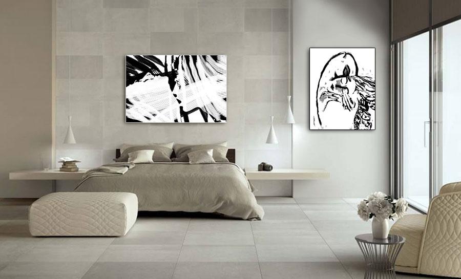 Plakaty czarno białe do sypialni - GrafikiObrazy.pl