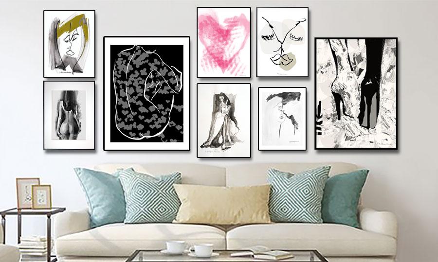 Plakaty miłość love pocałunek na ścianę - Grafiki Obrazy